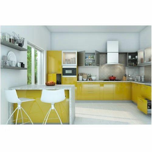 Livspace Modular Kitchen Popsicle L-shaped Kitchen, Rs 341716 /piece | ID:  18070343848