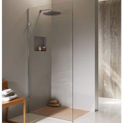 Transparent Semi-Frameless Shower Partition