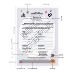 20087 Death Certificate Security Printing
