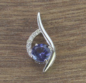 14k Tanzanite And Diamond White Gold Pendant