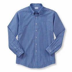 Blue Men's Readymade Shirt
