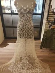 Beaded Net Embriodered Bridal Wear, Size: S
