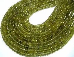 Natural Genuine Green Apatite Beads Size 4-5mm Rondelle Faceted Briolette Beads