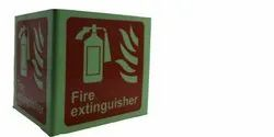 Glowing Fire Extinguisher Sign Board