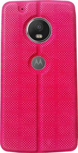 meet 92477 5dcba Motorola Moto G5 Plus Flip Cover (pink)
