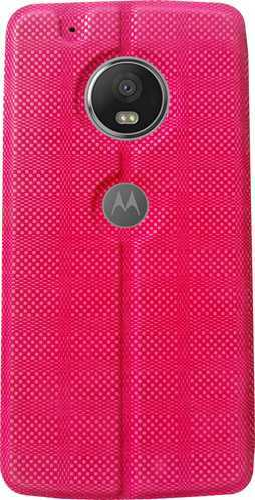 meet 96ace ca2a8 Motorola Moto G5 Plus Flip Cover (pink)