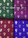 Two Tone Chanderi Pearl Jari Fabric