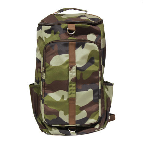 Leather 3 In 1 Military Print Travel Bag