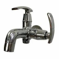 Wall Mounted Silver Stainless Steel Water Tap, For Bathroom Fitting, Upto 600 Gram
