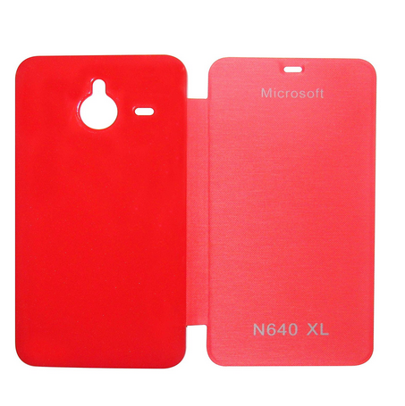 big sale f2a94 a3c6a Flip Cover For Microsoft Lumia 640 Xl (red)
