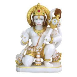 Tejasvi Marble Hanuman Statue, Packaging Type: Carton