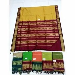 Casual Wear Ladies Pure Gadwal Silk Saree with Blouse