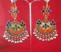 Nk Enterprises Multicolor Nk Handmade Tribal Afghani Earring German Silver, Size: Free