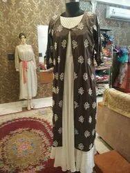 Self prepared Silk Western dresses
