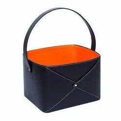 Leatherette Gift Hamper Basket
