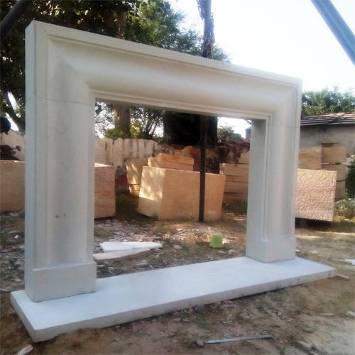 Sand Stone Off-White Fireplaces Surrounds