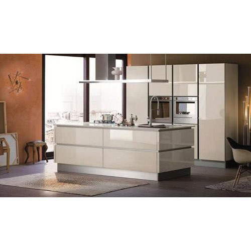 Full Height High Gloss Lacquered Glass Kitchen Shutter, Rs