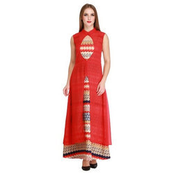 Cottinfab Women's Layered Maxi Dress (DSS9173A)