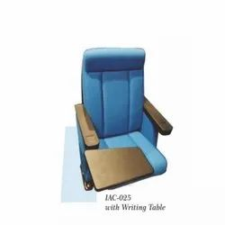 Blue Auditorium Tip Up Chair With Writing Pad
