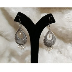 Stylish Oxidised German Silver Earrings