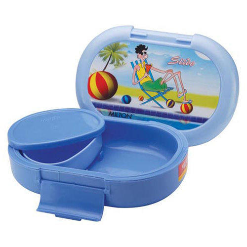 ae73e8a151 Blue Plastic Kids School Lunch Box, Size: 6-8 Inch, Rs 150 /piece ...
