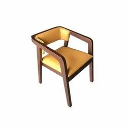 Teak Wooden Designer Chair, Back Style: Tight Back