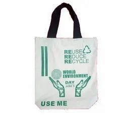 Printed Loop Handle Eco Friendly Cotton Carry Bag, For Shopping, Capacity: 5 Kg