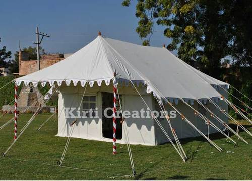 White Luxury Swiss Cottage Tent, Size: 12ft X 24ft And 14ft X 28ft