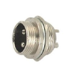 3 Silver M16 Male Connector, For Audio & Video, Packaging Type: Packet