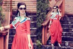 Rachna Bluebell Mode Silk Pattern Cut Kurti with Stole 2