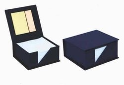 Blue Slip Pad Box with Sticky Notes