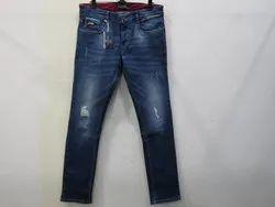 Mens Dark Blue Slim Fit Strech Jeans(PW-09)