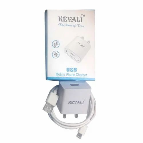 White Kevali USB Mobile Phone Charger