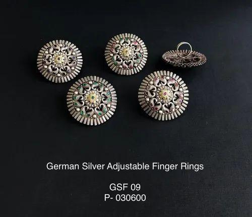 Dual Tone Adjustable Finger Rings