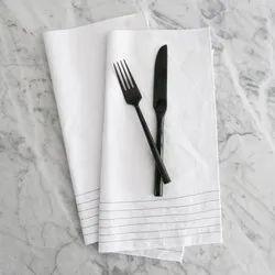 White Plain Restaurant Cloth Napkin, Size: 21