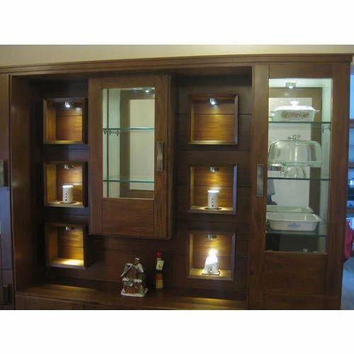 Wooden Crockery Unit at Rs 1100 square feet Wooden Crockery Unit