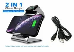 2 in 1 10W Fast Wireless Charging Pad METAL STAND