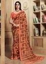 Kesari Exports Georgette Printed Sarees With Blouse Piece