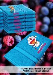 Plain Blue Personalized Cotton Towel
