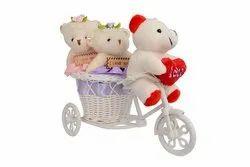 Teddy Bear Basket, Size: 16-12.cm