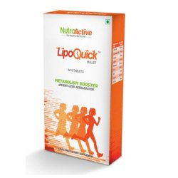 Lipoquick Bullet Fat Burner Tablets, For Used As A Metabolism Booster, Packaging Type: Box