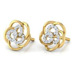 Diamond Studded Flower Shape Earring