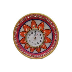 White GRP Marbles Antique Marble Painted Clock, Grp-9912