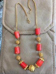 Natural Coral Mangalsutra Beaded Chains