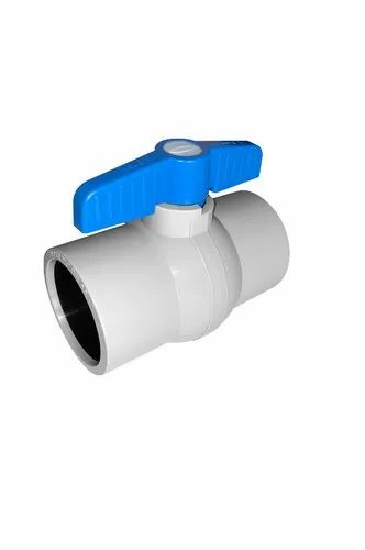 GREY PP SOLID BALL VALVE
