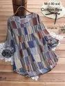 Full Sleeves Printed Western Dress for Ladies