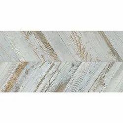 White Rectangular Chevron Floor Tile, For Flooring, Size: 30x90