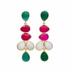 Chalcedony Gemstone Earring