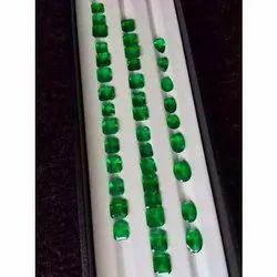 Die Cut Semi Precious Emerald Stone