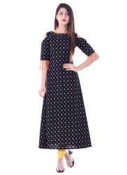 Yash Gallery Trendy Fringed Womens A Line Kurti